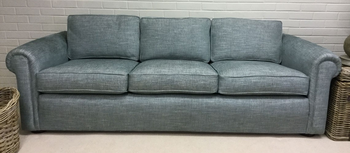 Client Sofa After Re-Upholstery
