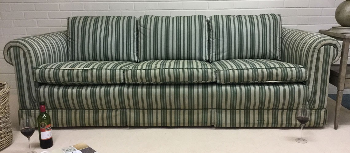 Client Sofa Before Re-Upholstery