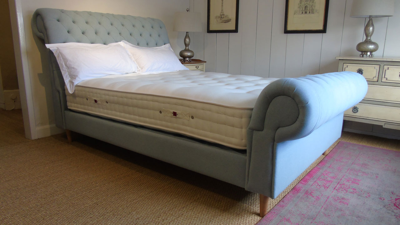 Chesterfield Upholstered Bed Frame - Stripped View
