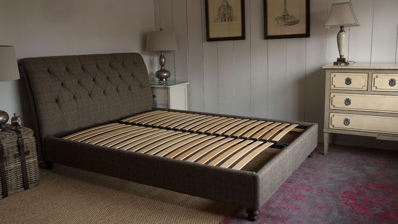 Lewis Harris Tweed Bed Frame - No Mattress View