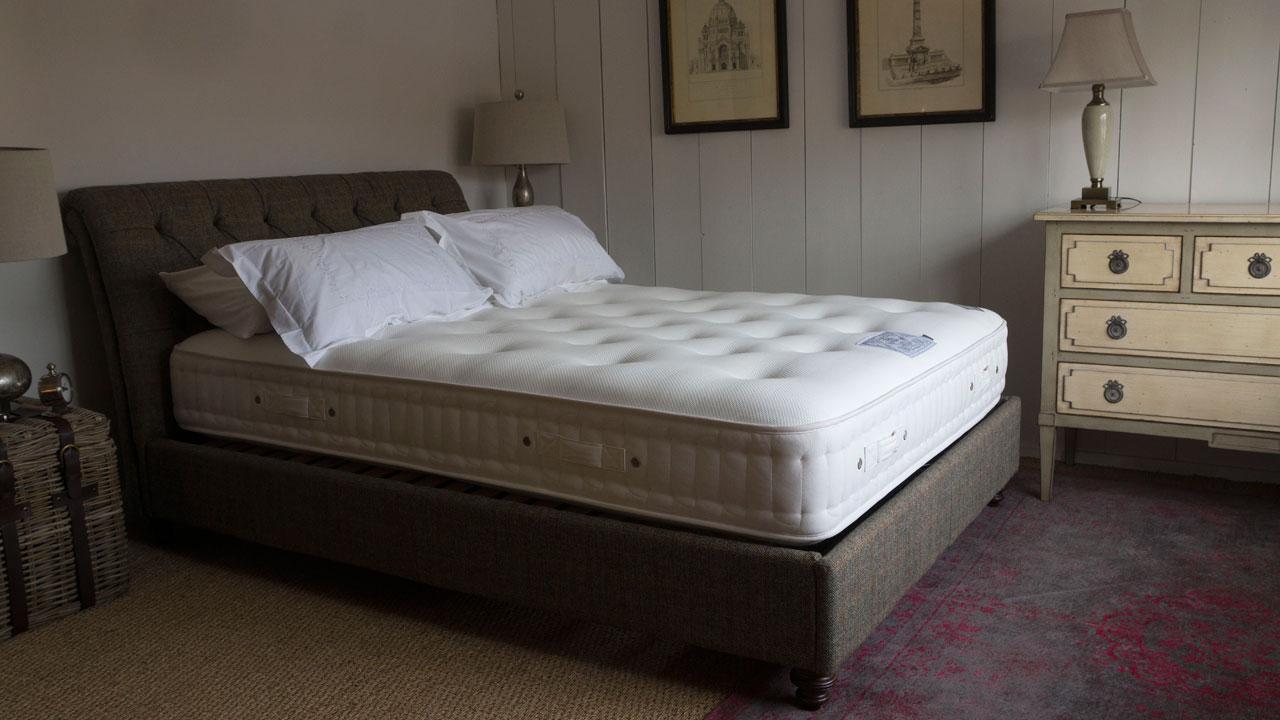 Lewis Harris Tweed Bed Frame - Stripped View