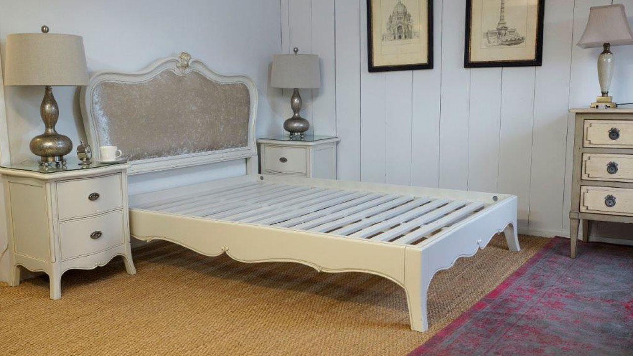Provence Upholstered Bed Frame - No Mattress View