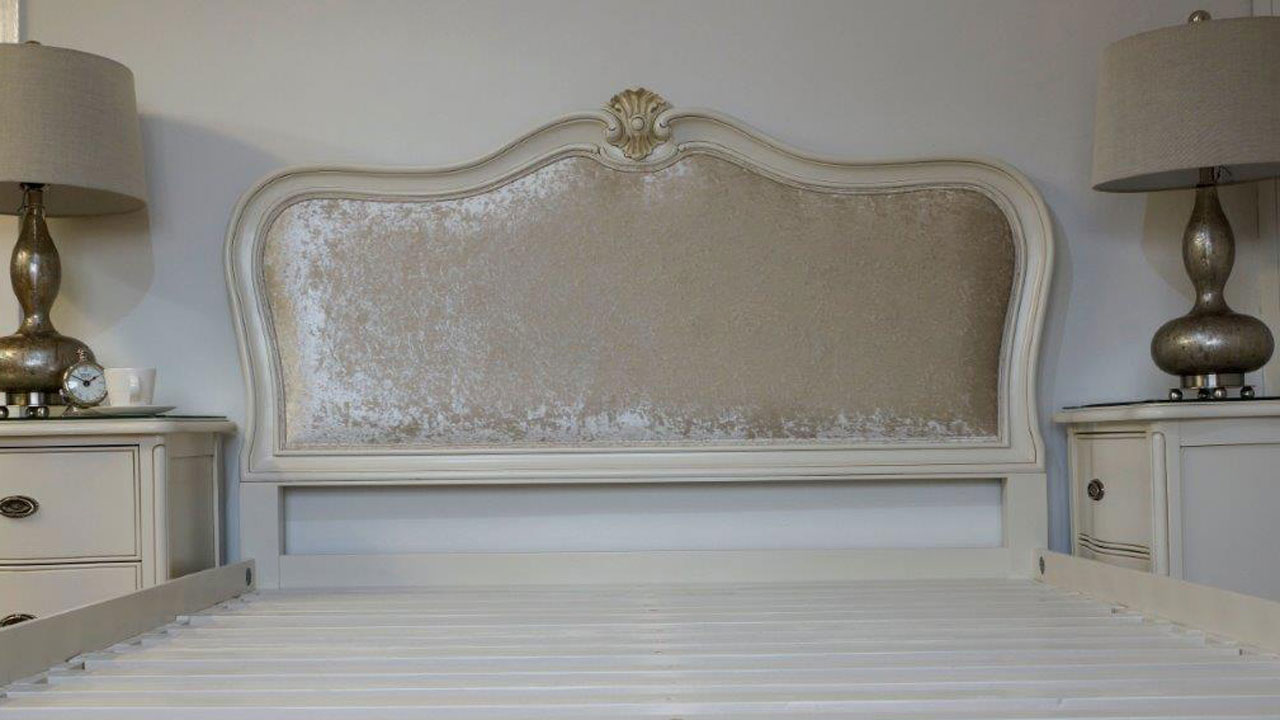 Provence Upholstered Bed Frame - Headboard View