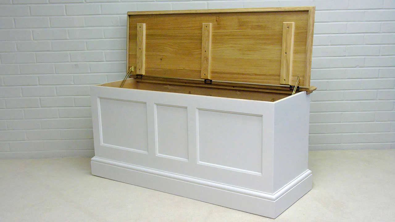 Avebury Blanket Box - Angled View