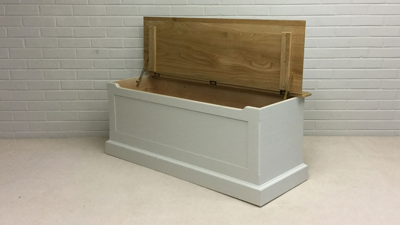 Avebury Blanket Box - Angled View - Lid Open