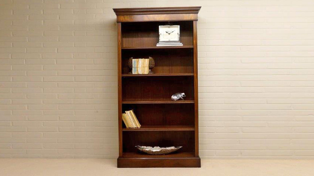 Iain James Tall Bookcase - Front Image