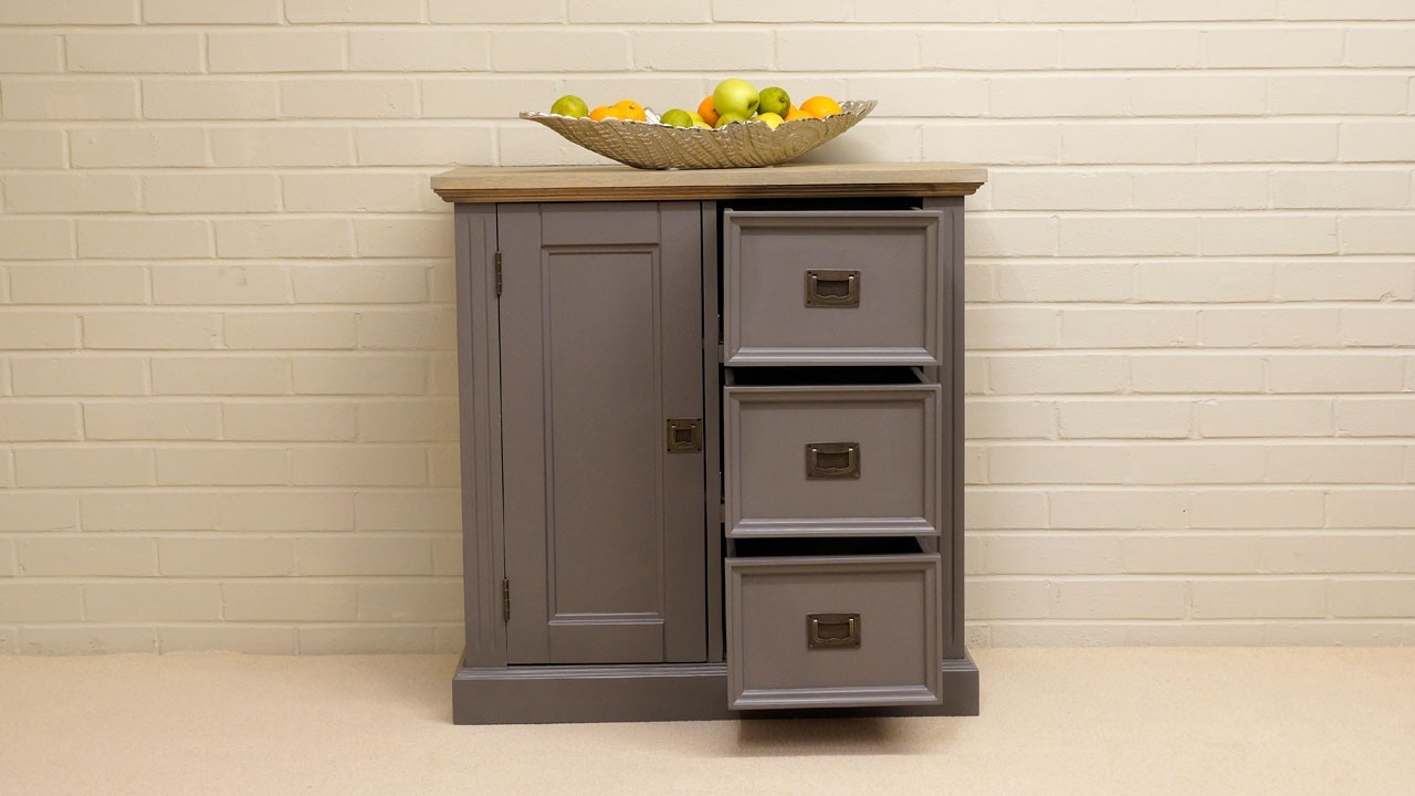 Hall Cabinet - Front View - Drawers Open
