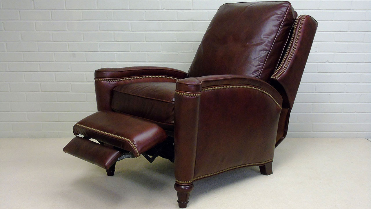 Boston Recliner Chair - Reclined Angled View