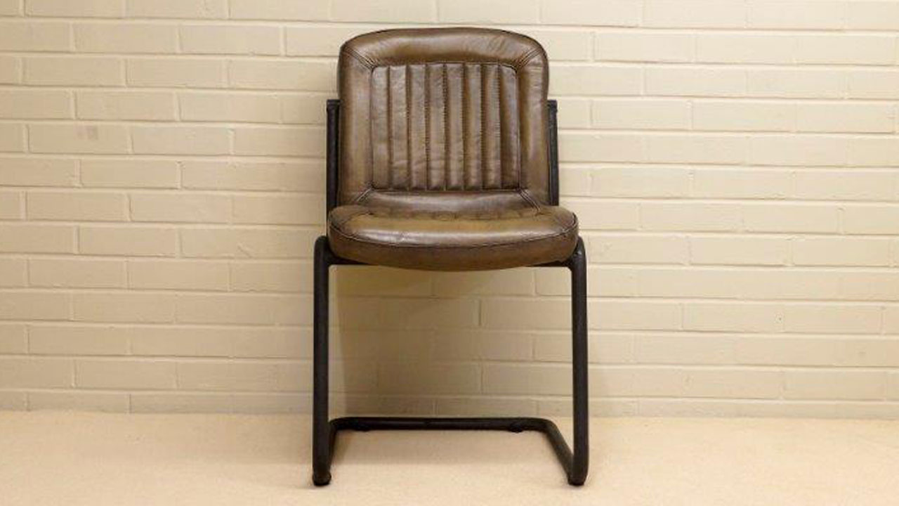 Carl Metal Chair - Front View