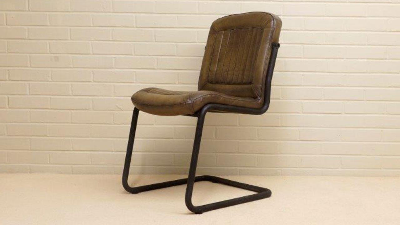 Carl Metal Chair - Angled View