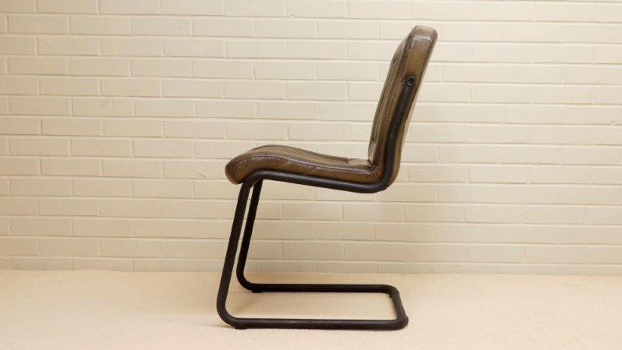 Carl Metal Chair - Side View