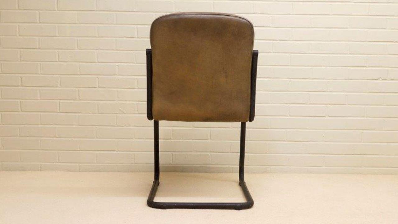 Carl Metal Chair - Back View