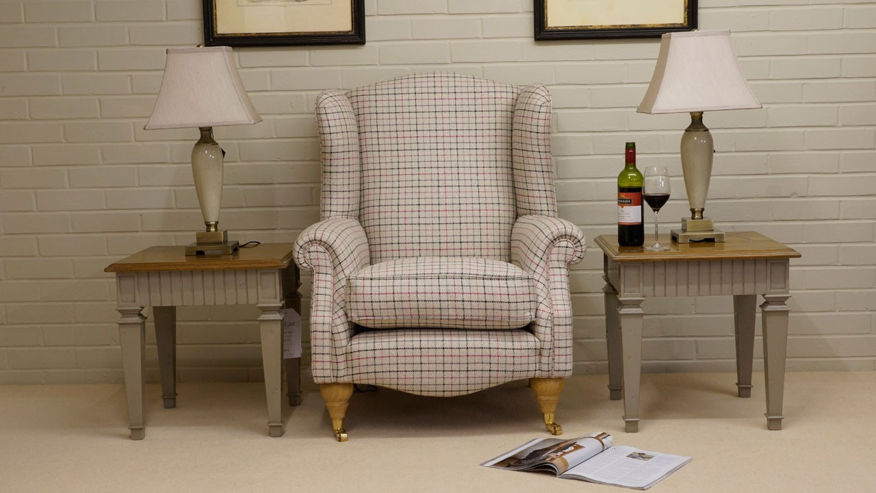 Chester Wing Chair - Front View