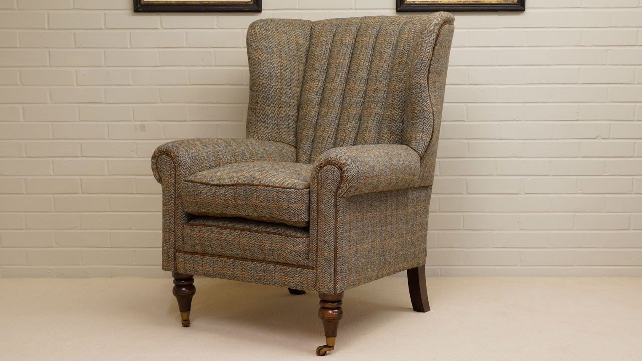 Dunbar Wing Chair - Angled View