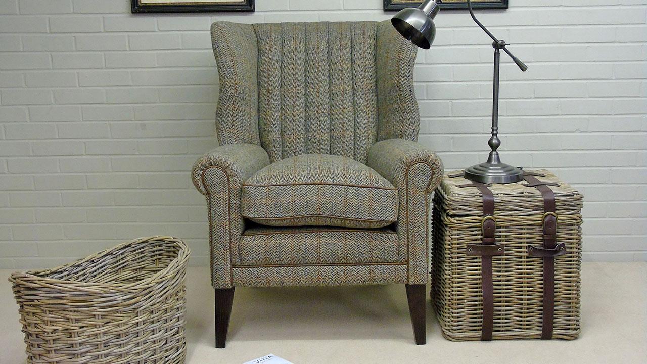 Dunbar Wing Chair - Front View - Alternative 2