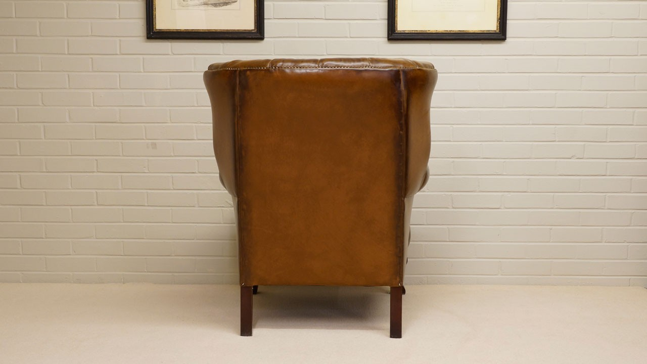 Fan Back Chair - Back View