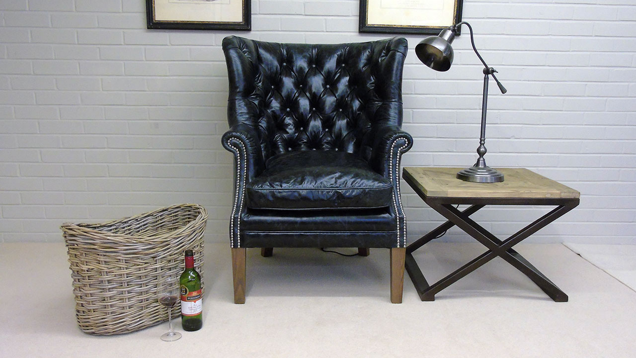 Garrick Wing Chair - Front View