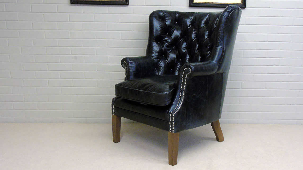 Garrick Wing Chair - Angled View
