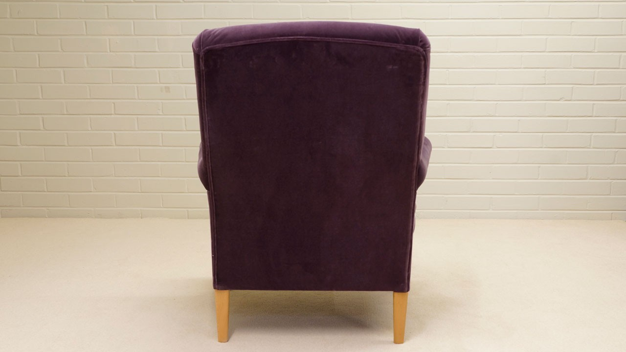 Kendall Chair - Back View - Purple Velvet