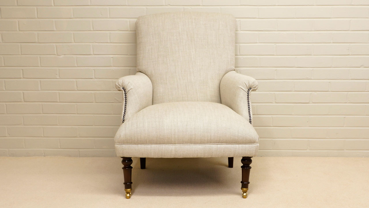 Kendall Chair - Front View - White