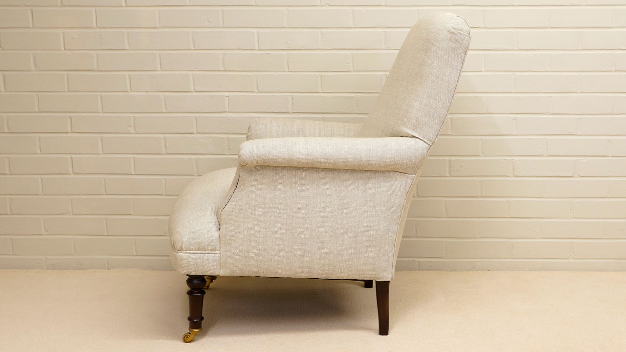Kendall Chair - Side View - White