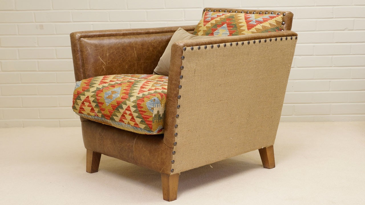 Kilim Chair - Angled View