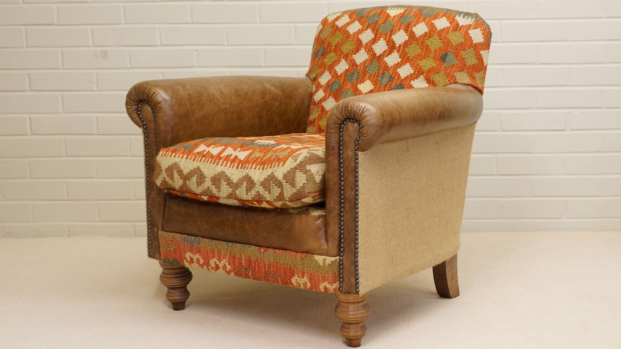 Kilim Chair - Angled View 2