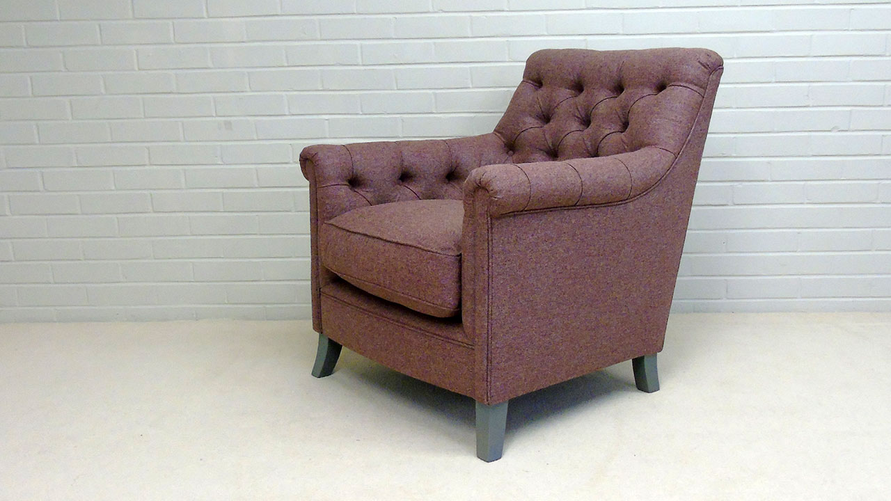 Tillbury Chair - Angled View - Wool