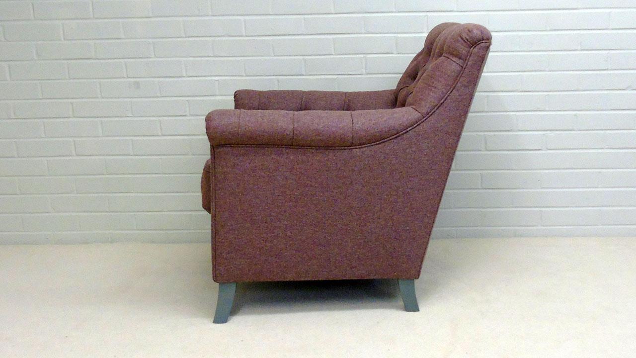 Tillbury Chair - Side View - Wool