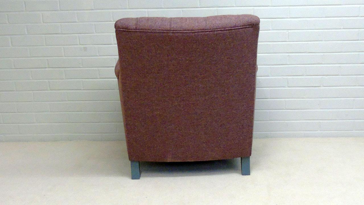 Tillbury Chair - Back View - Wool
