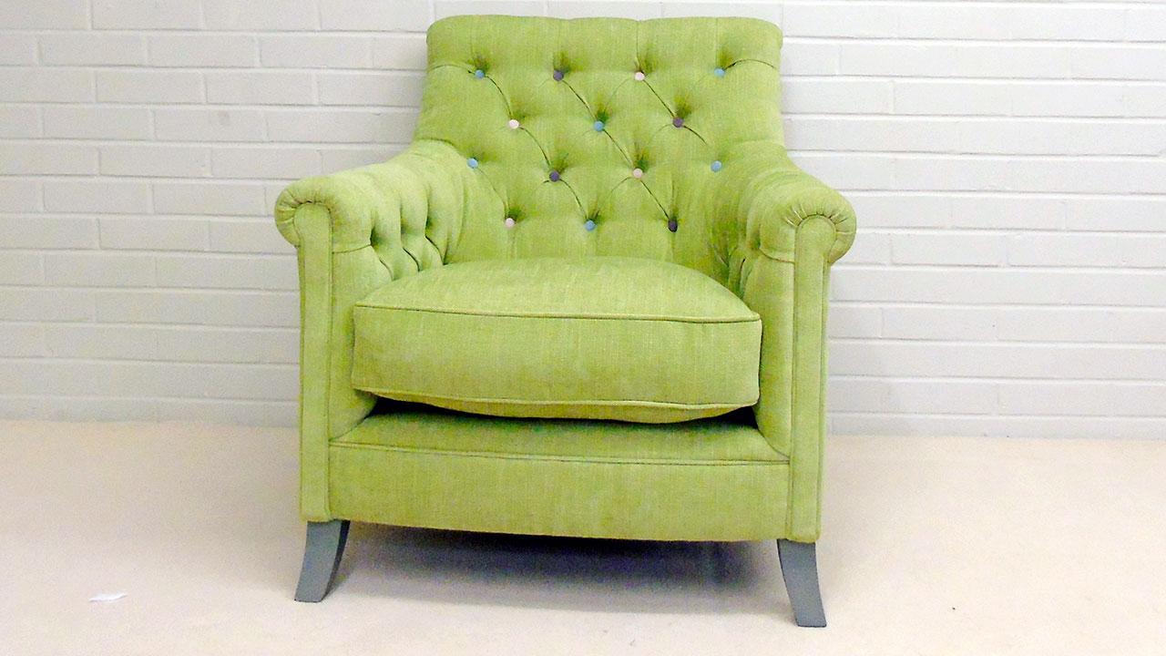 Tillbury Chair - Front View - Linen