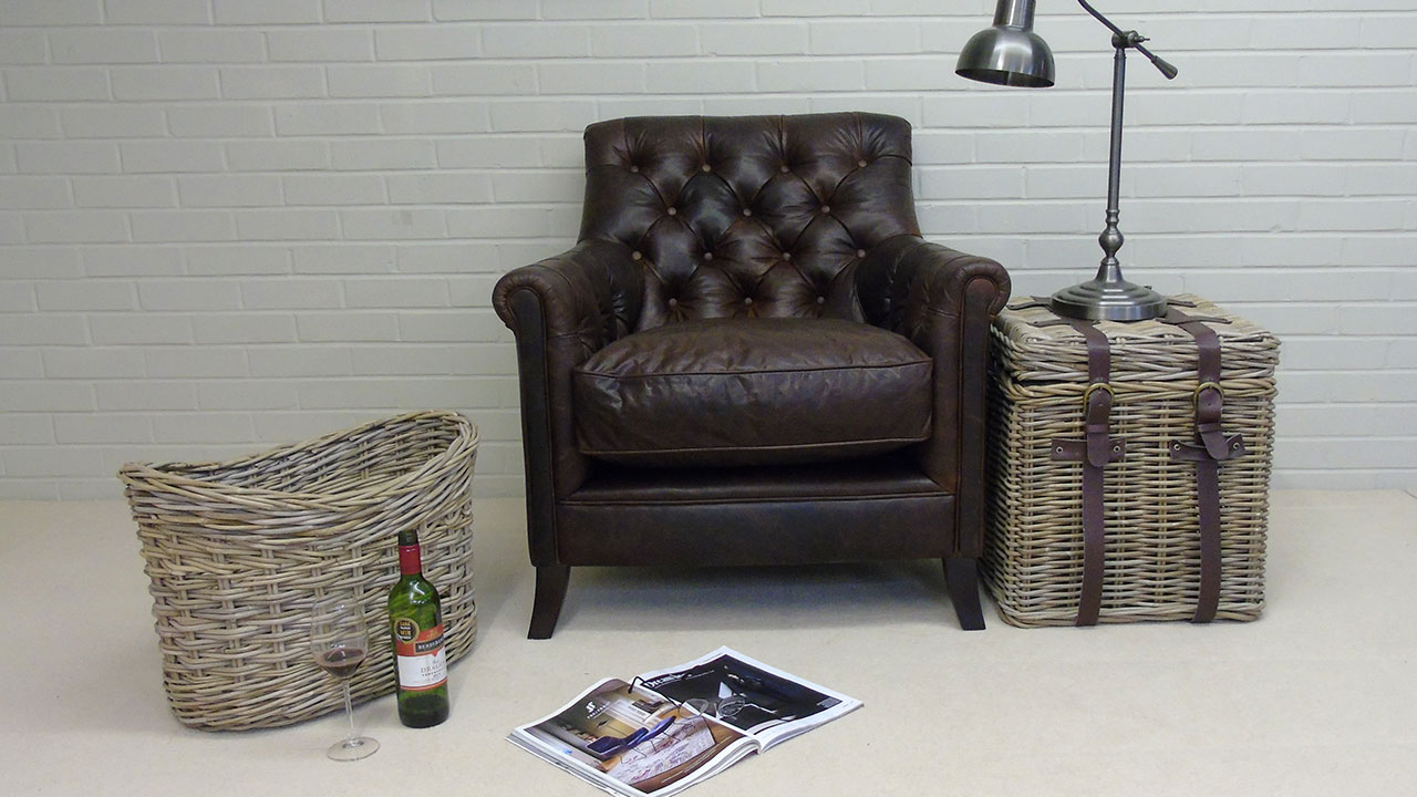 Tillbury Chair - Front View - Leather