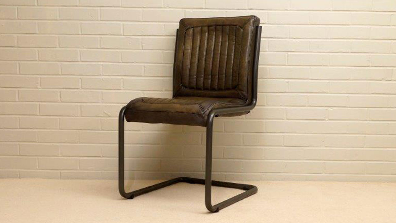 Tim Metal Chair - Angled View