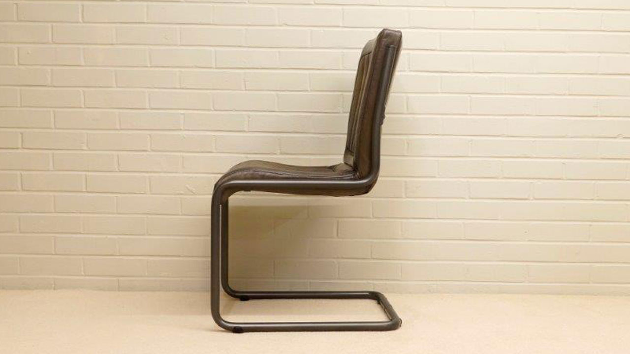 Tim Metal Chair - Side View