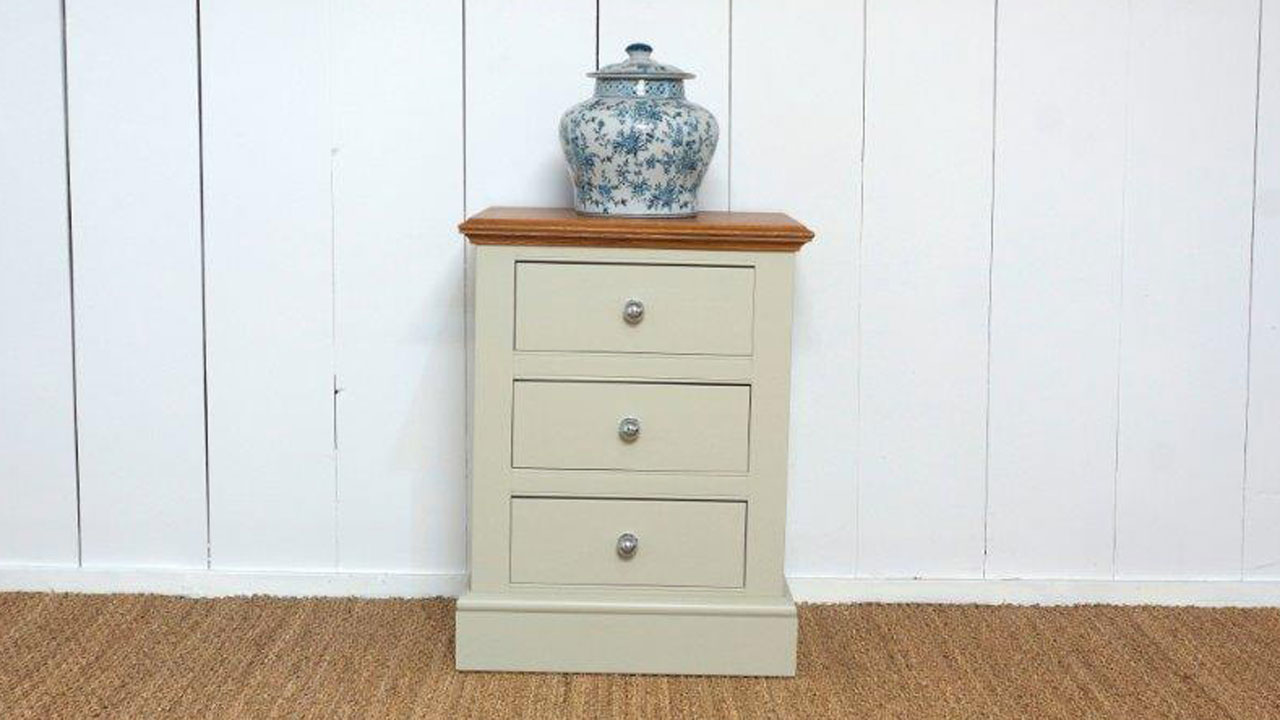 Chatsworth Bedside Drawers - Front View
