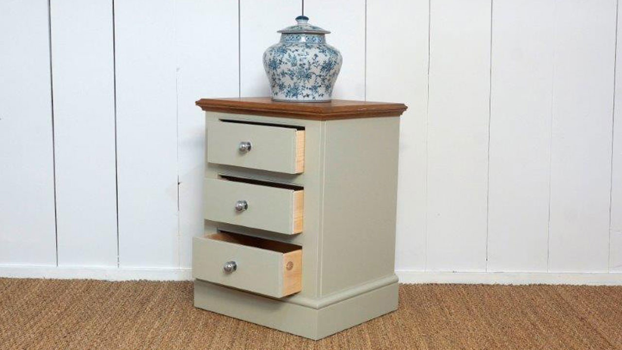 Chatsworth Bedside Drawers - Angled View - Drawers Open