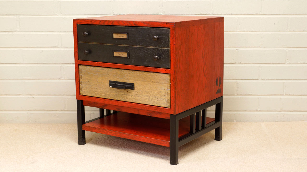 Industrial Filing Chest - Angled View