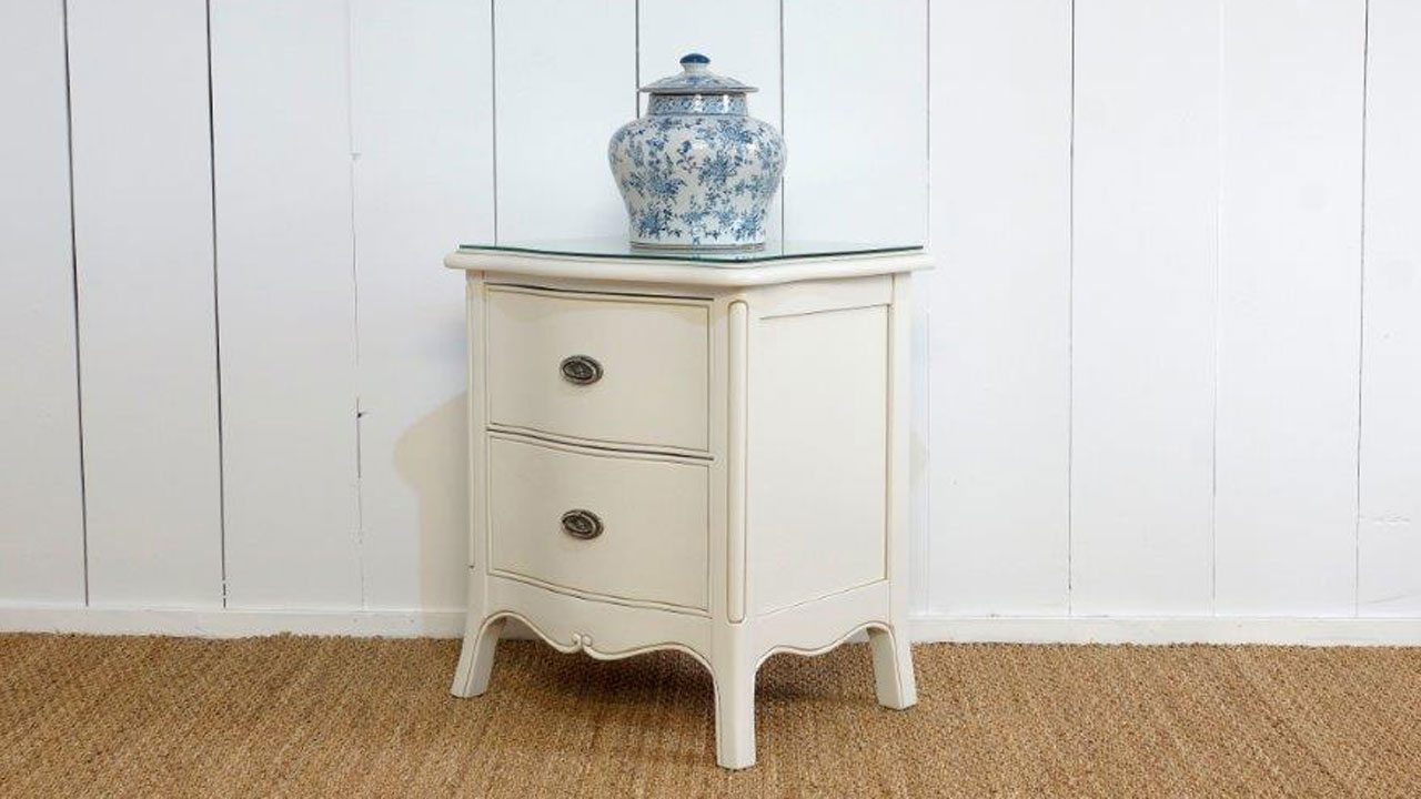 Provence Bedside Cabinet - Angled View
