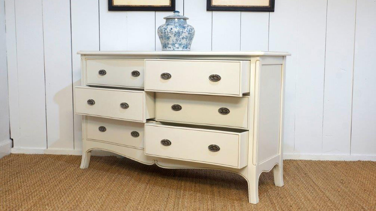 Provence Dressing Chest - Angled View - Drawers Open