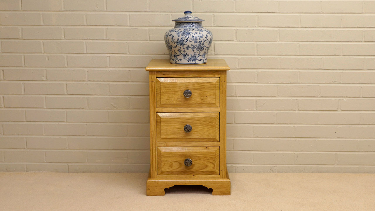 Solid Oak Small Cabinet - Front View