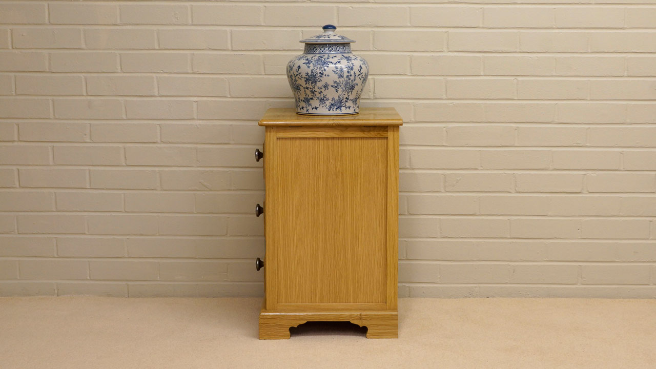 Solid Oak Small Cabinet - Side View