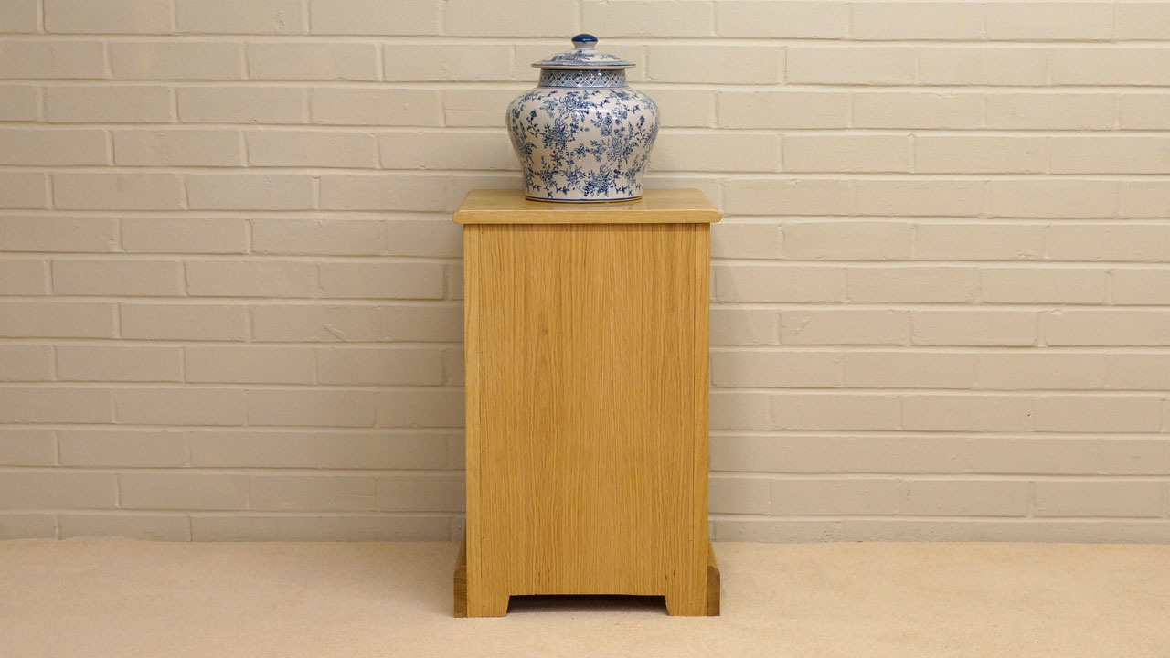 Solid Oak Small Cabinet - Back View