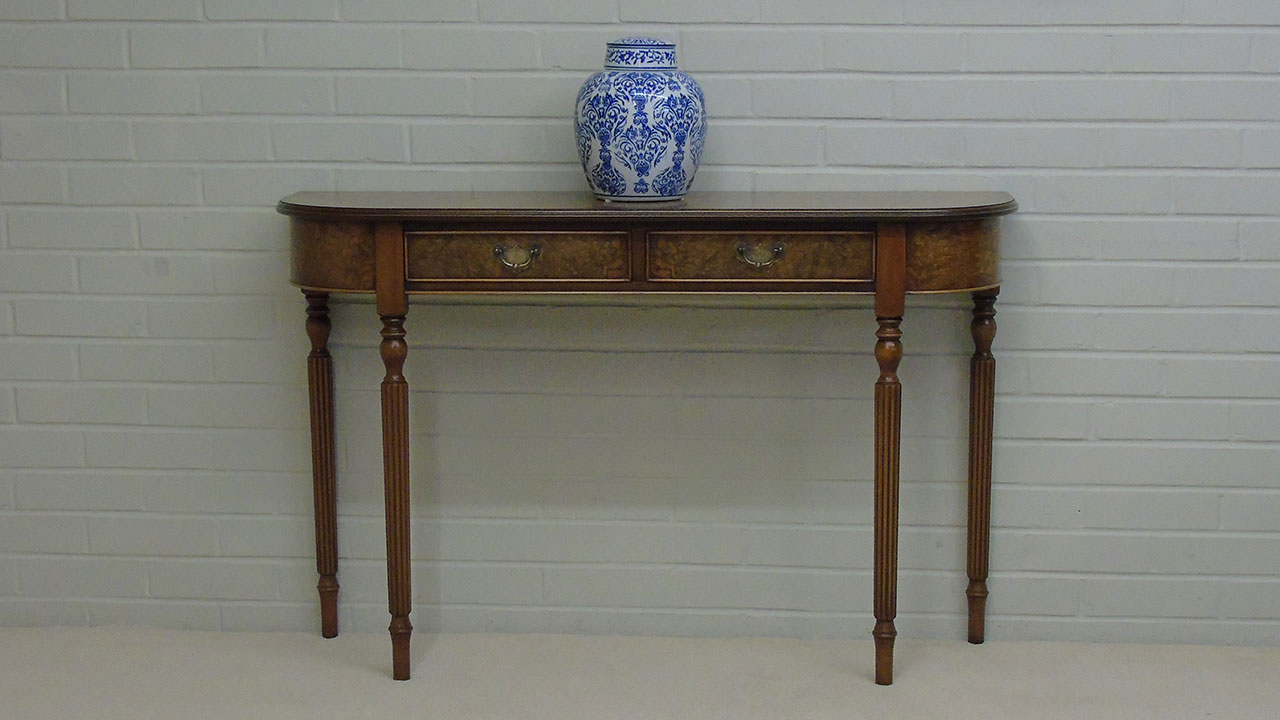 Iain James Walnut Console Table - Front View