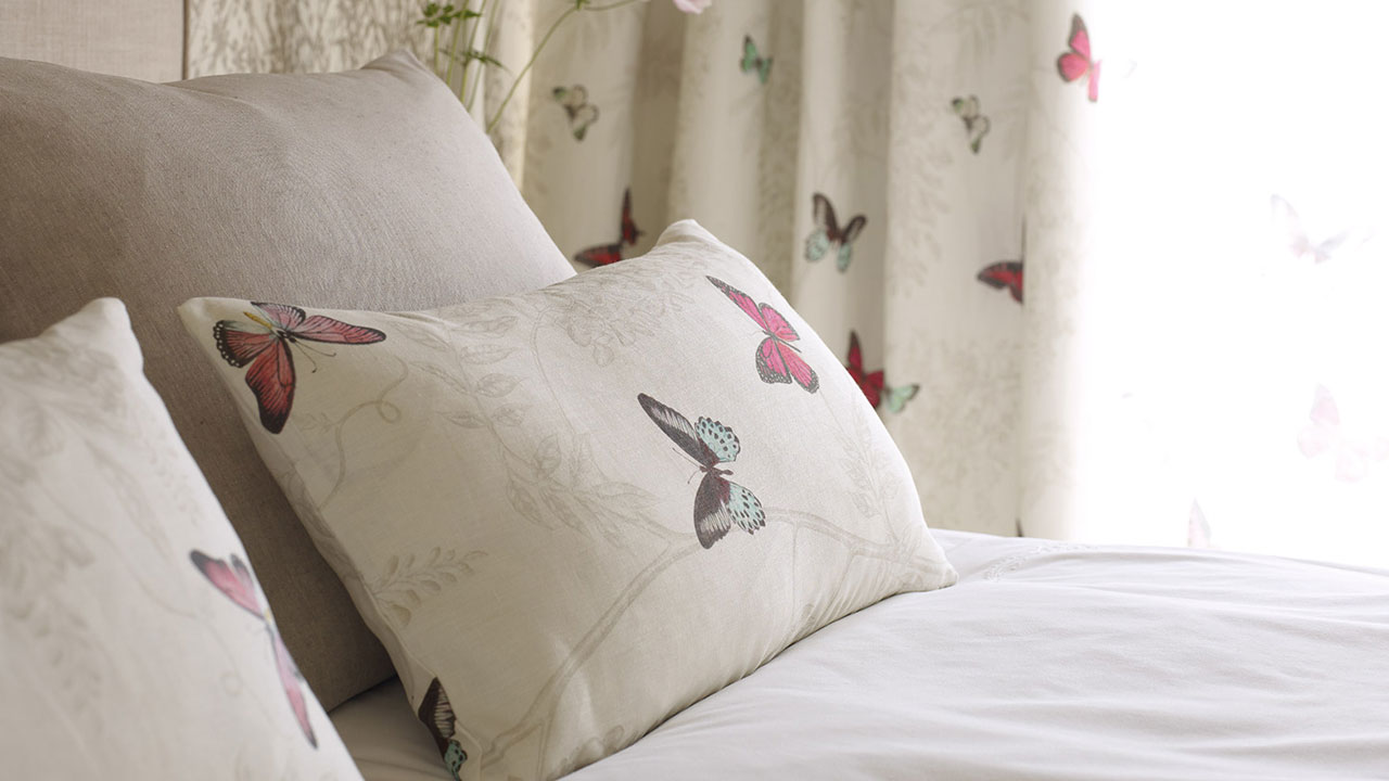 Sanderson Wisteria & Butterfly FB G3 Cushion - Main Image