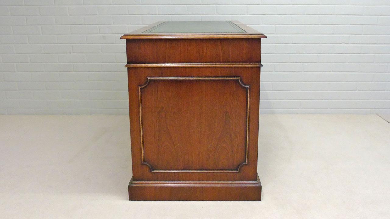 Iain James Mahogany Desk - Side View