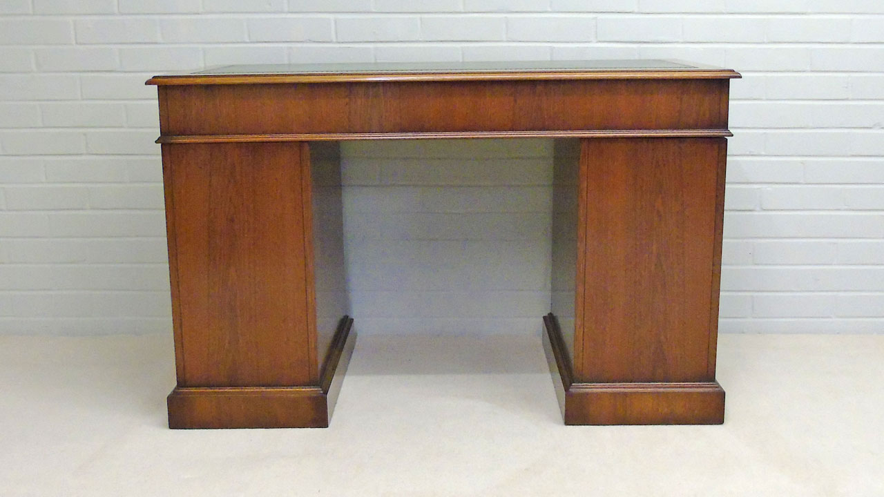 Iain James Mahogany Desk - Back View