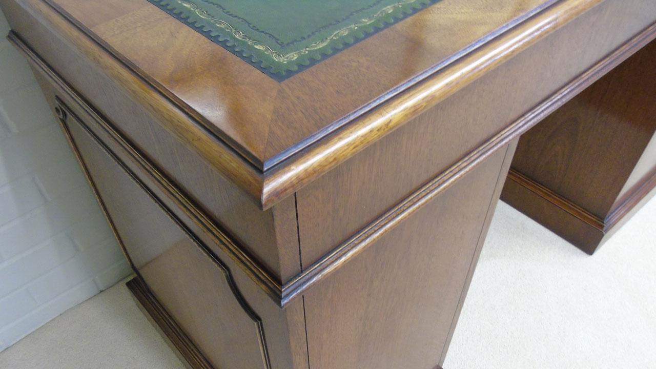 Iain James Mahogany Desk - Detail View