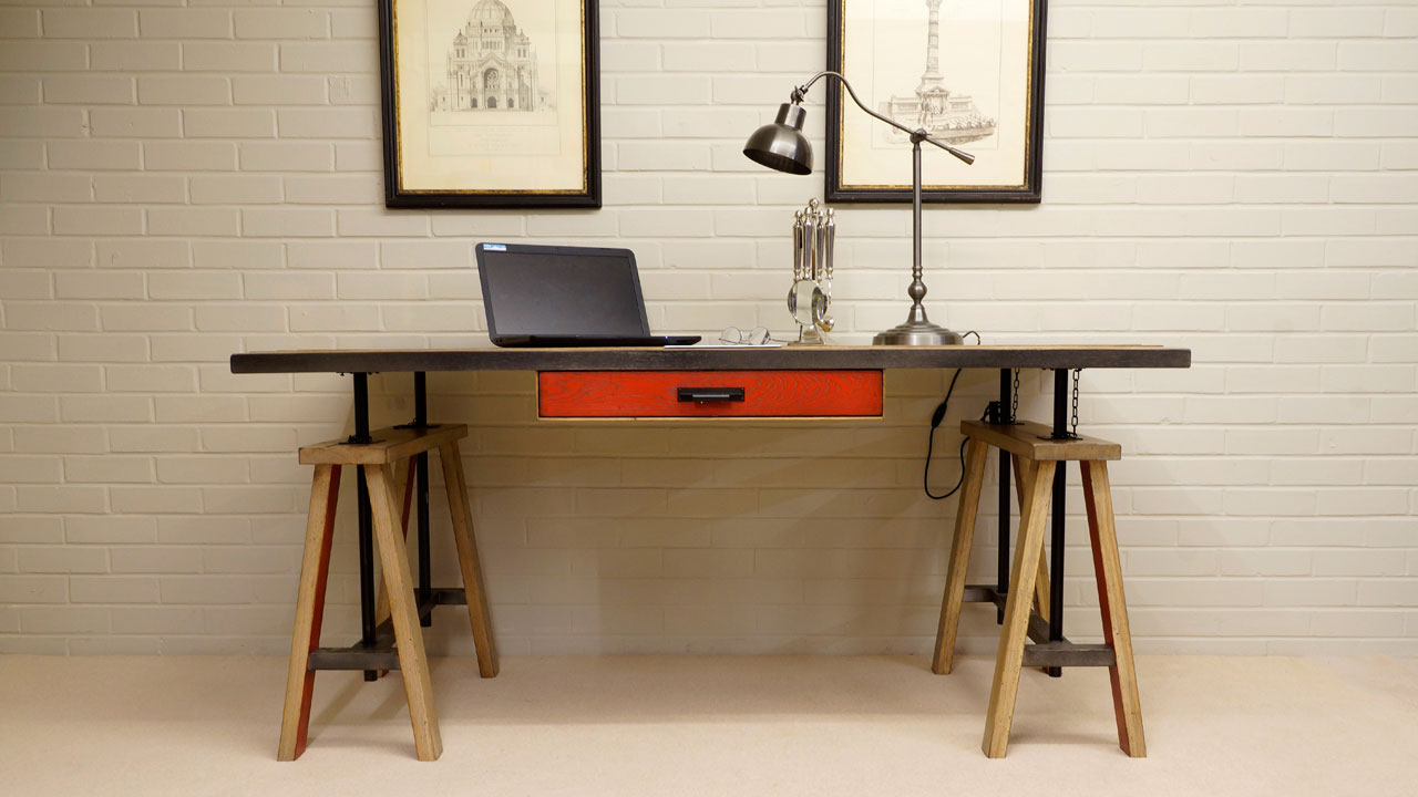 Industrial Desk - Front View