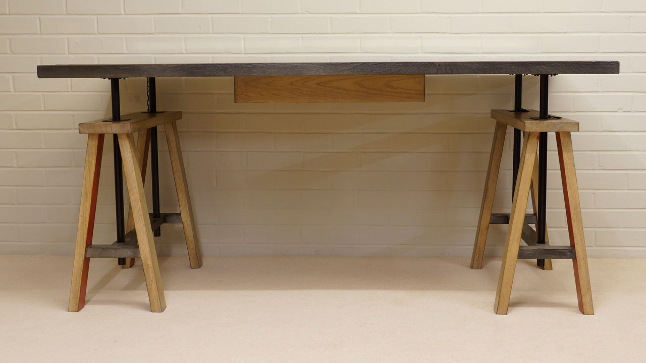 Industrial Desk - Back View