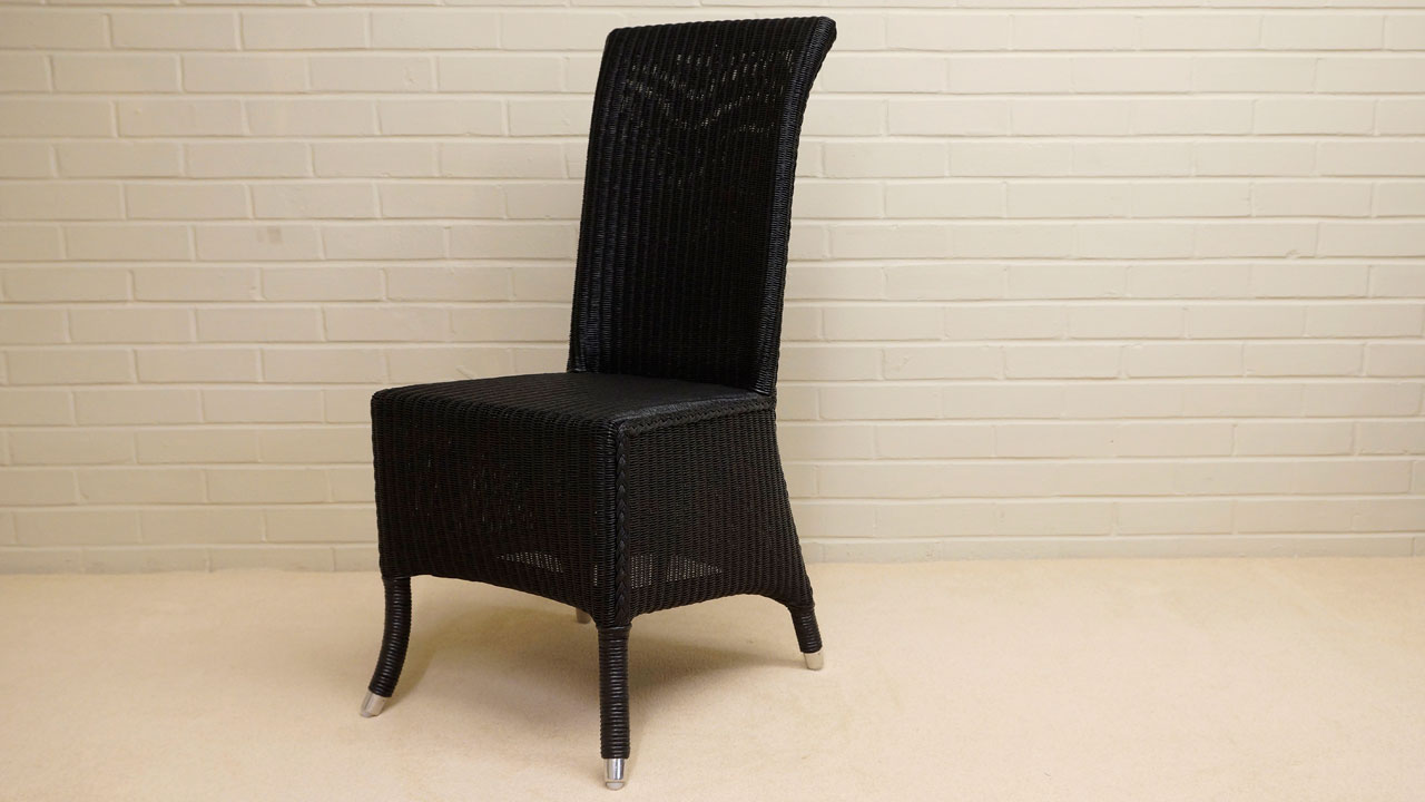 Amelie Chair - Angled View - Black